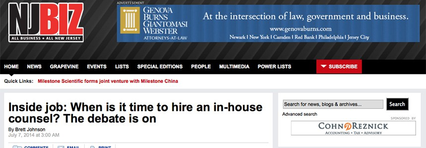 Inside job: When is it time to hire an in-house counsel? The debate is on