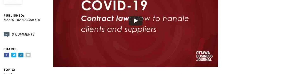Coping with COVID-19: Are business contracts enforceable in a crisis?